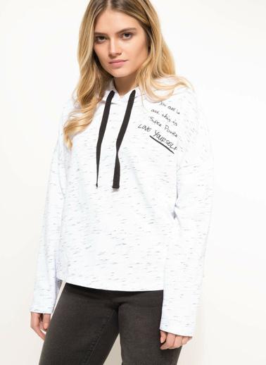 DeFacto Baskılı Sweatshirt Gri